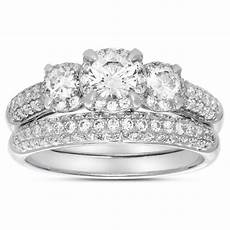 2 carat three stone trilogy diamond wedding ring in white gold for jeenjewels