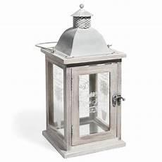 lanterne en bois lanterne en bois blanchi h 36 cm olivier maisons du monde
