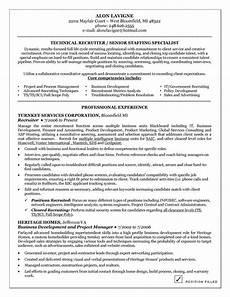 technical recruiter resume exles good resume exles resume exles