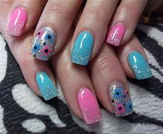 day 306 pink and blue nail art nails magazine