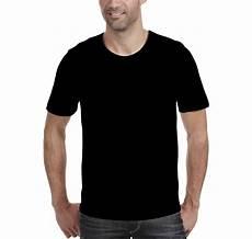 Template Kaos Polos Hitam Depan Belakang Untuk Desain Kaos