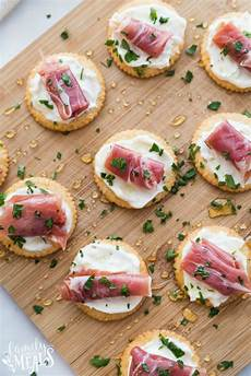 easy creamy prosciutto cracker appetizer family fresh meals