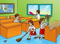 Gambar Gambar Mewarnai Kebersihan Lingkungan Sekolah