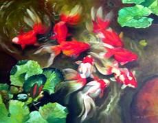 Lukisan Ikan Paintings Of Fish Lukisan Repro Repro