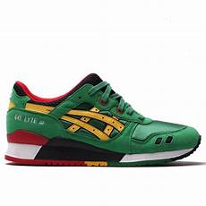 asics gel lyte iii carnival green yellow natterjacks