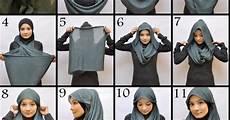Gambar Cara Memakai Jilbab Pashmina Untuk Wajah Bulat