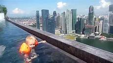 amazing view singapore swimming at the edge of