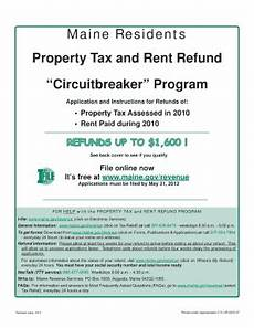 maine state tax forms 2009rent refund fill online printable fillable blank pdffiller