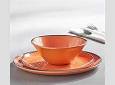 Swirl Melamine Dinnerware   Orange   Pottery Barn