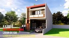 Denah Rumah 2 Lantai Di Lahan 6x15 Lengkap Dengan 4 Kamar