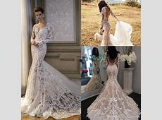 Vintage Long Sleeve Lace Appliqued Blush Wedding Dresses