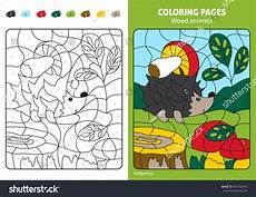 wood animals coloring pages 17194 wood animals coloring page hedgehog stock vector 460792816
