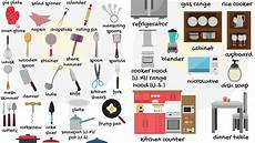 kitchen furniture names things in the kitchen vocabulary learn names of kitchen