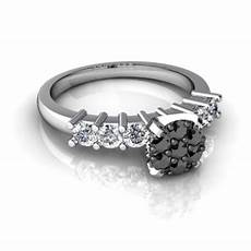 cheap wedding rings online with black and white diamonds for sale