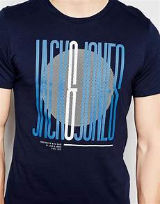 lyst jones t shirt with stretched font print in