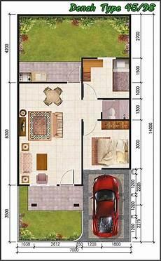 50 Denah Rumah Minimalis Beserta Tak Dan Potongan