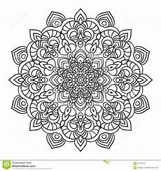 rosace orientale dessin drawing ornate mandala element in eastern style stock