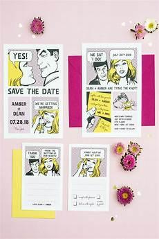 Comic Wedding Invitations