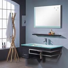 Glas Waschbecken Mit Unterschrank Set Waschtisch Mit