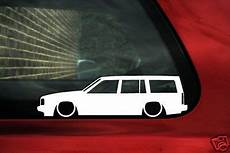 2x low volvo 850 turbo estate wagon lowered outline