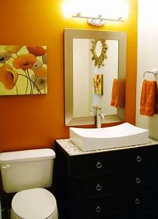 Bathroom Ideas Orange by Orange Wall Cabinet Sink Interior Design