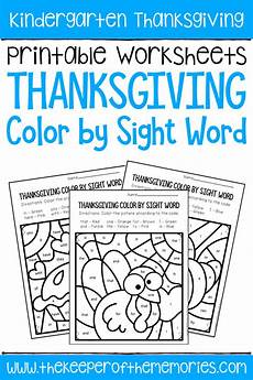 weather conditions worksheets for kindergarten 14516 color by sight word thanksgiving kindergarten worksheets