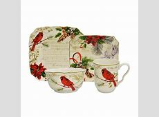 222 Fifth Holiday Wishes 16 Piece Dinnerware Set   Wayfair