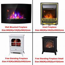 Modern Electric Fireplace Heater Place Effect