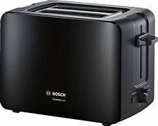 toaster schwarz bosch kompakt toaster comfortline tat6a113 schwarz online