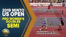 pro women s doubles semi 2019 minto us open pickleball chionships youtube
