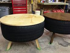 Tisch Aus Autoreifen - recycled tire coffee table