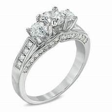 1 50 ct t w certified canadian diamond three stone
