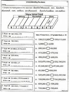 place value quiz worksheet 5644 place value to millions practice and test worksheets by wilbert mitchell