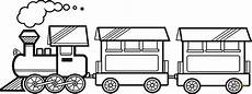 steam with two carriages coloring page free