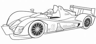 F1 Racing Car Coloring Page  Cars Pages Sports
