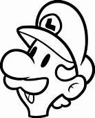 Coloriage Masque Luigi &224 Imprimer Sur COLORIAGES Info
