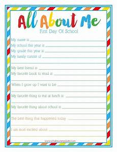 free printable worksheets classroom 18623 day of school all about me free printable back to school survey for