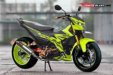 Stiker Variasi Satria Fu 150 by Modifikasi Striping Suzuki Satria Fu 150 Fi Drift Battle