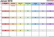 januar 2019 kalender kalender januar 2019 als pdf vorlagen