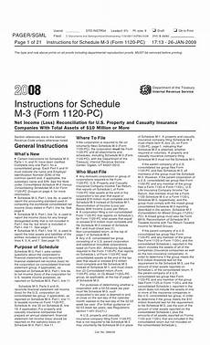 inst 1120 pc schedule m 3 instructions for schedule m 3 form 1120