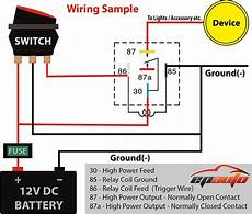 87a relay wiring diagram normally open relay wiring