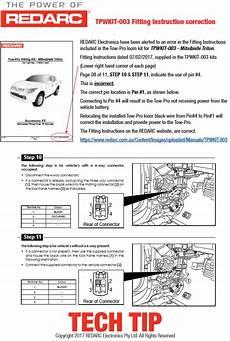 tow pro elite v2 wiring kit instructions for a mitsubishi triton redarc electronics