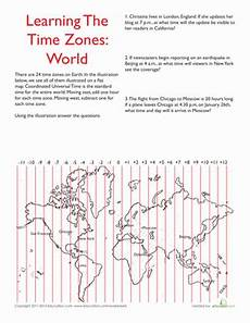 worksheets time zone activities 3275 world time zones worksheet education