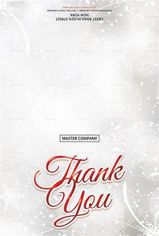 merry christmas thank you card template in adobe photoshop