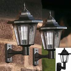 led solar powered wall lanterns wall light l outdoor