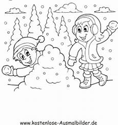 Kostenlose Ausmalbilder Zum Ausdrucken Winter Ausmalbilder Im Schnee Winter Zum Ausmalen
