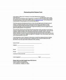 free 9 sle artist release forms in ms word pdf