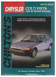 manual repair autos 1993 plymouth colt vista regenerative braking 1990 1993 chilton dodge colt vista repair manual 9780801984181 ebay