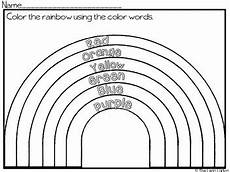 colors of the rainbow worksheets 12805 color word rainbow by the leap ladyz teachers pay teachers