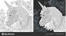 einhorn malvorlagen malbuch ausmalbild mit pferd